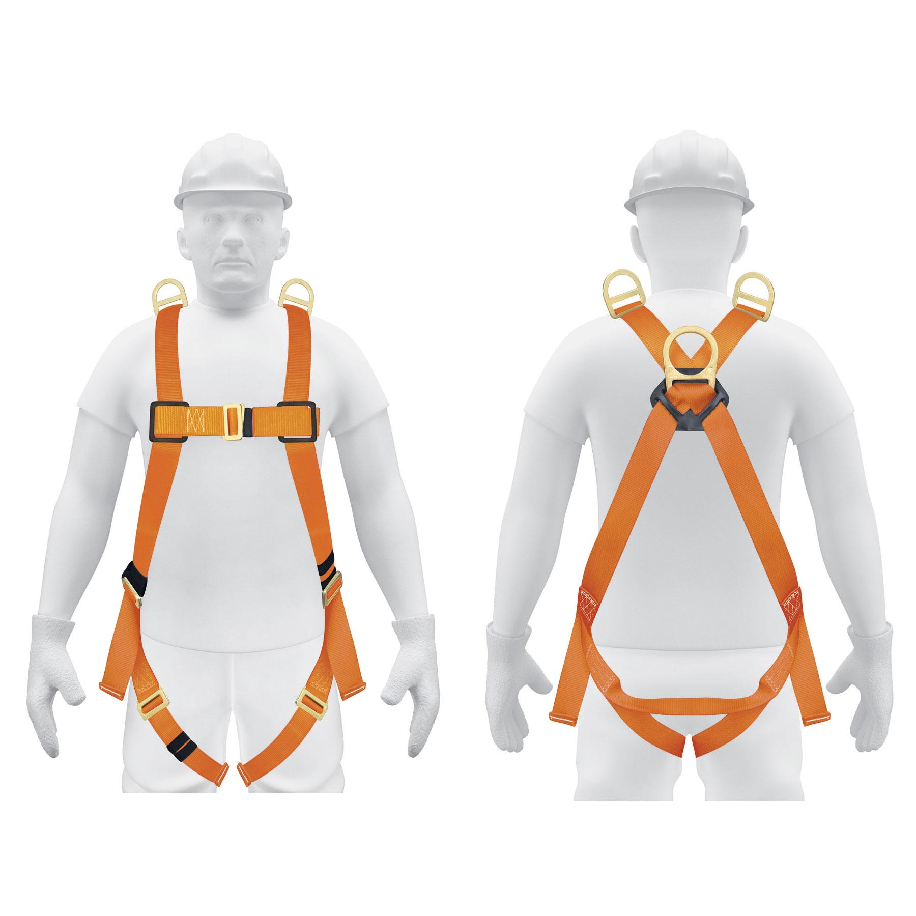 Truper - Arnés de cuerpo completo, 3 anillos, rescate