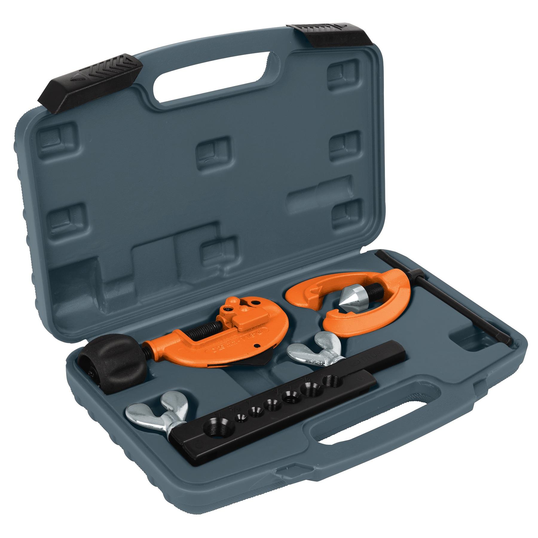 Truper - Juego de cortador de tubo y avellanador, 3 piezas