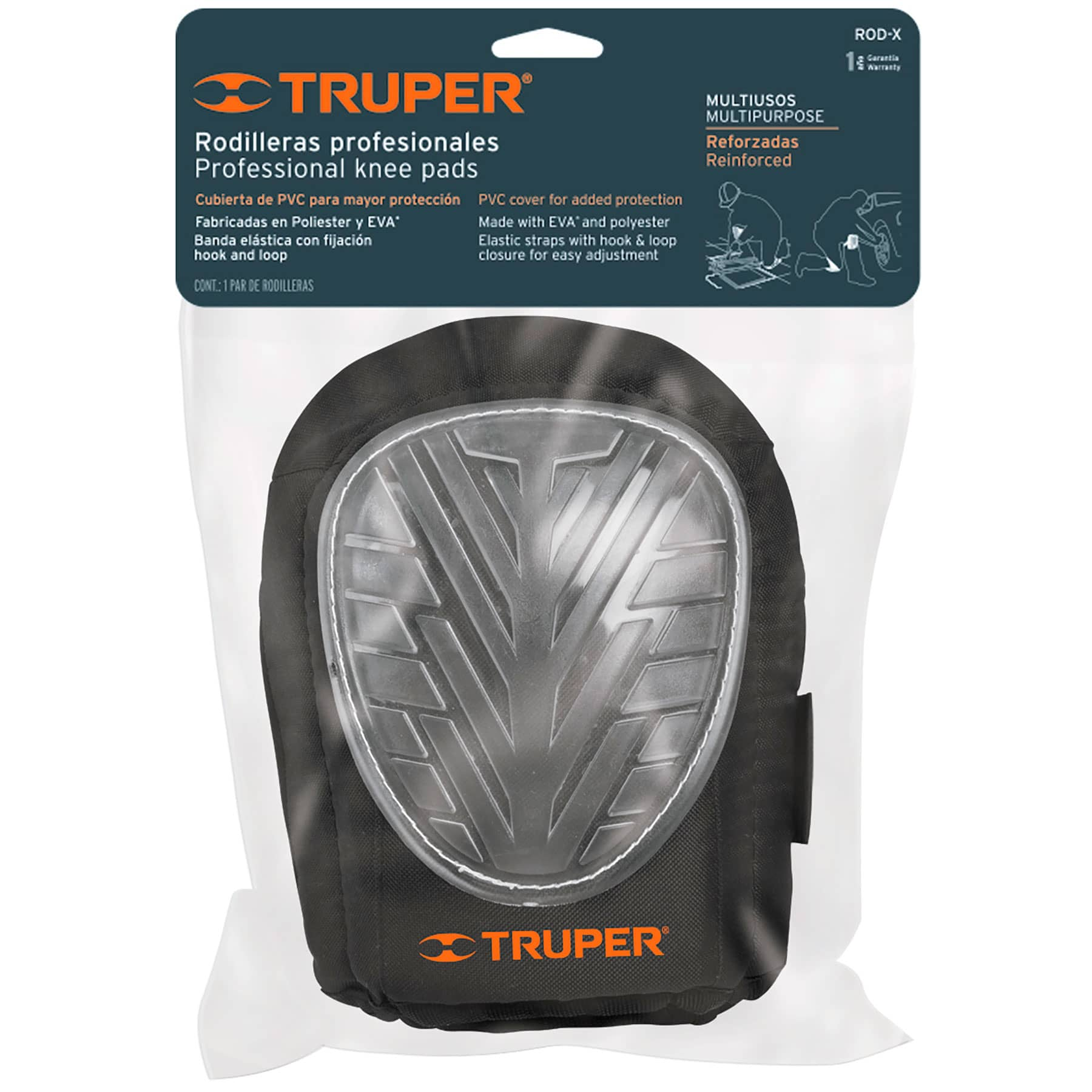 Truper - Rodilleras profesionales de PVC