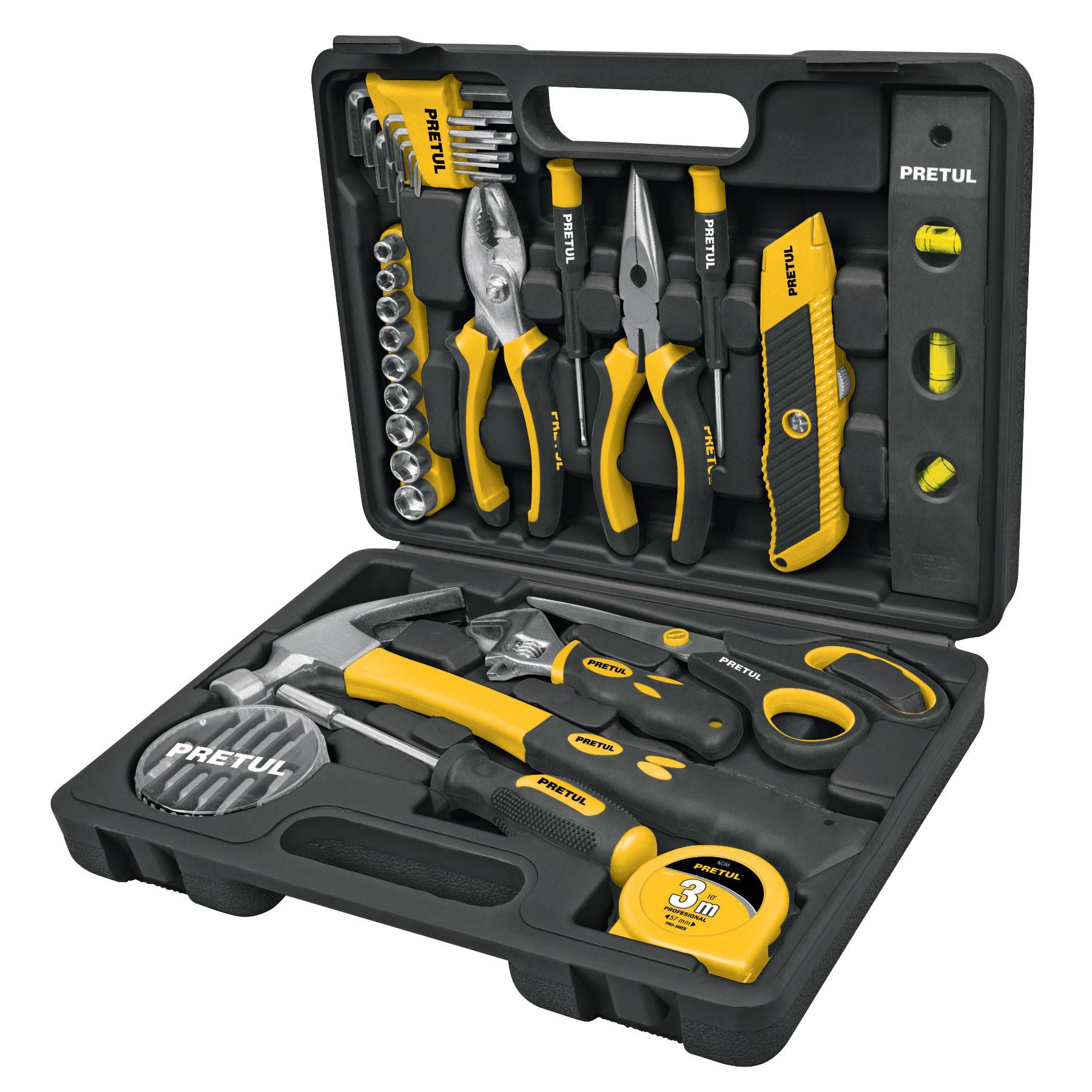 Pretul - Set de herramientas, 42 piezas, comfort grip, Pretul